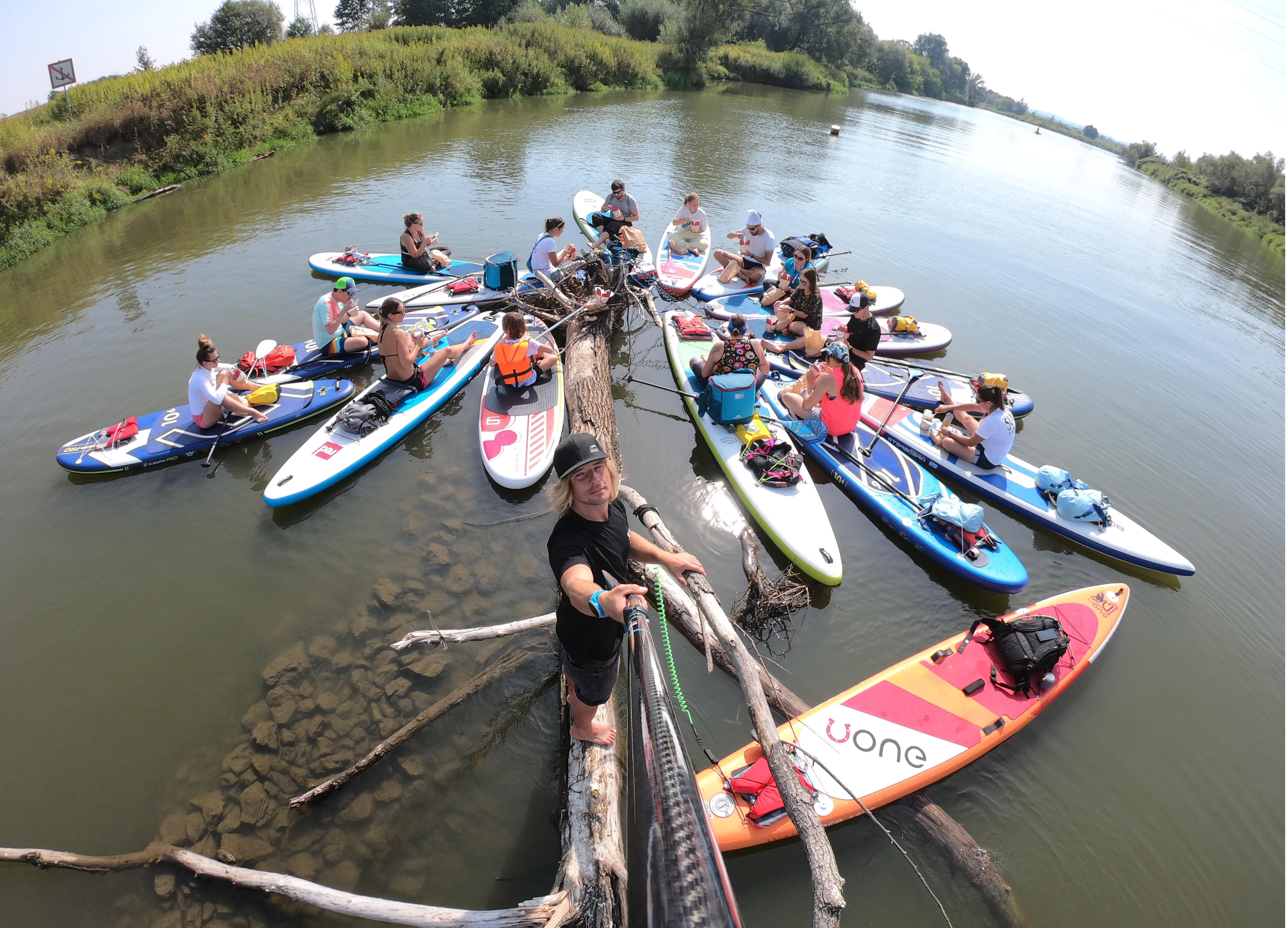 impreza firmowa sup stand up paddle paddle boarding krakow bagry wisla kryspinow